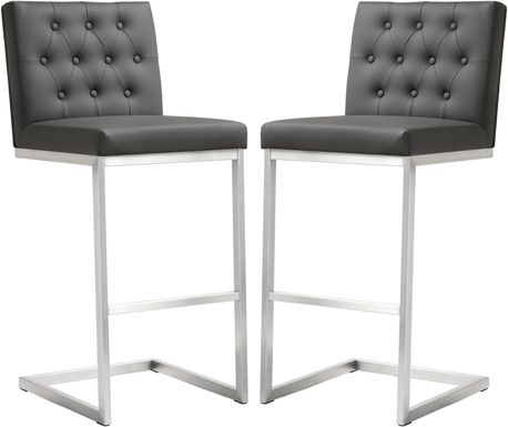Helsinki Gray Barstools (Set of 2)