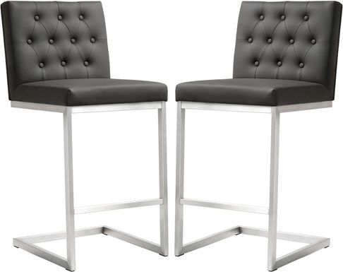 Helsinki Gray Counter Height Stools (Set of 2)