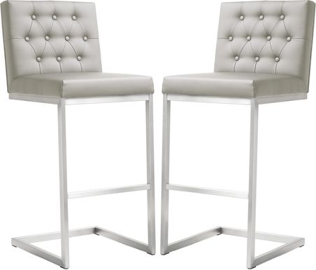 Helsinki Light Gray Barstools (Set of 2)