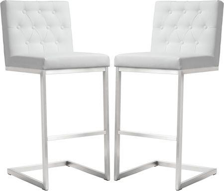 Helsinki White Barstools (Set of 2)