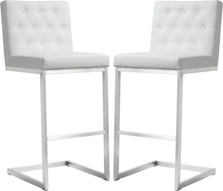 Helsinki White Barstools (Set of 2)