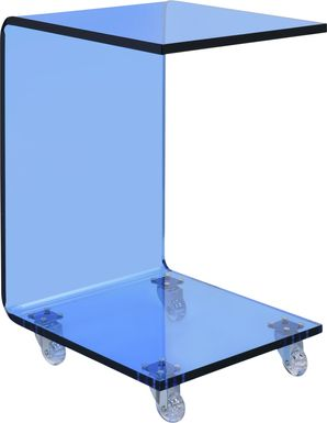 Hemperly Blue Accent Table