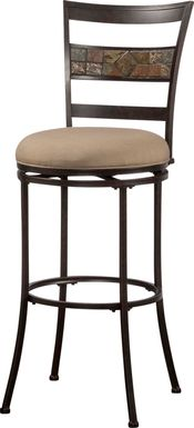Henning Mocha Outdoor Swivel Barstool