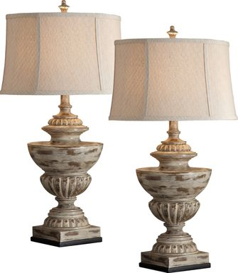 Herrling Taupe Lamp, Set of 2