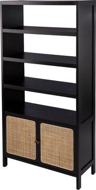 Hewers Black Bookcase