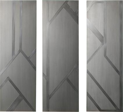 Hewwood Silver Wall Art, Set of 3