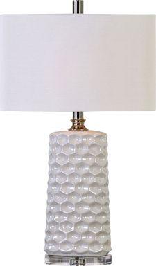 Hidden Cove White Lamp