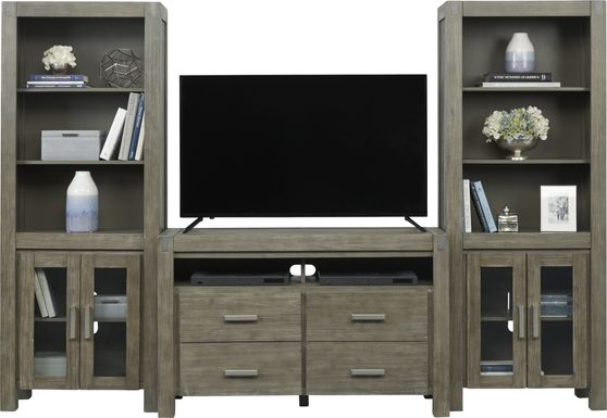 Hidden Springs II Gray 3 Pc Wall Unit with 50 in. Console
