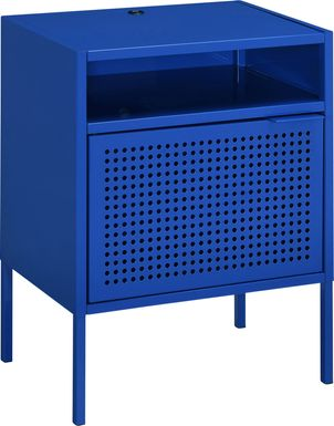 Hiett Blue Accent Table