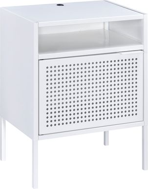 Hiett White Accent Table