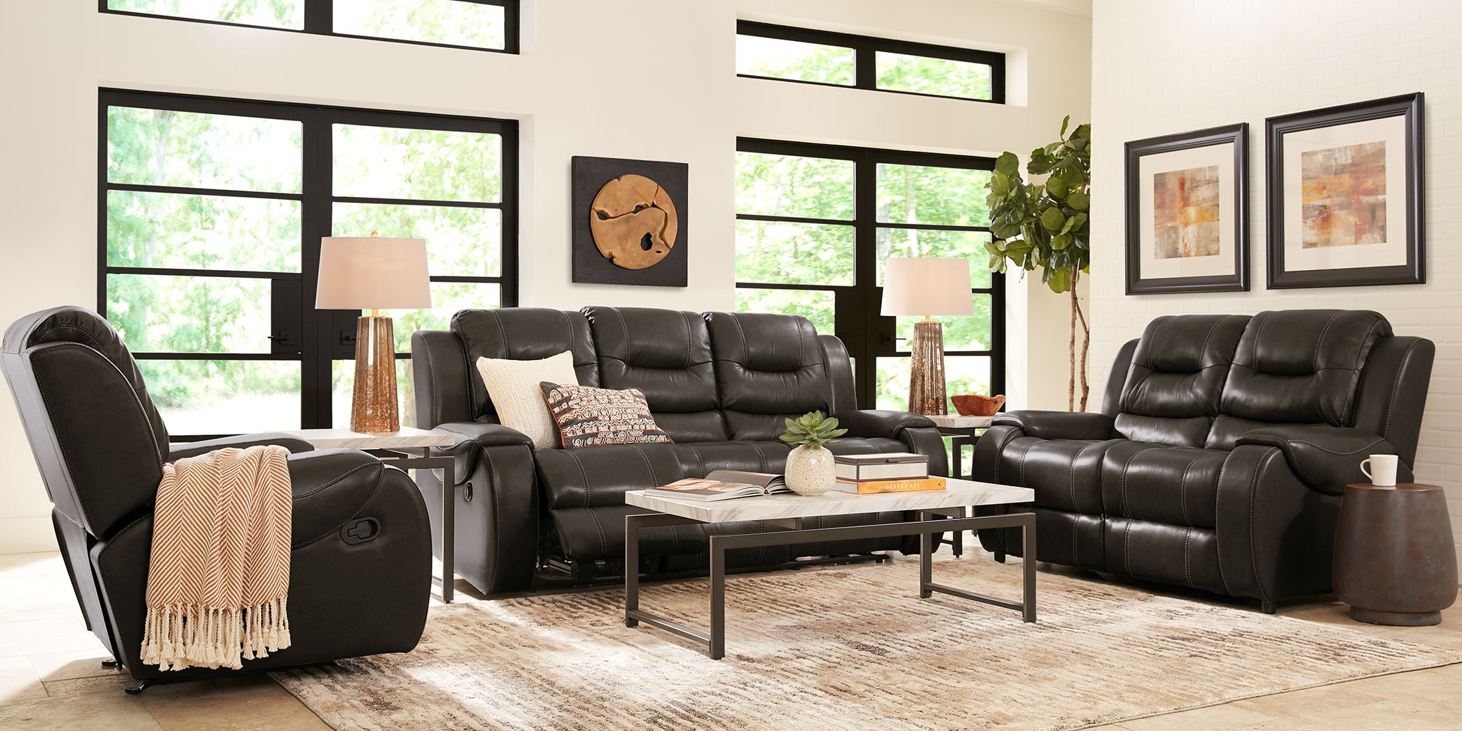 Black Reclining Sofas