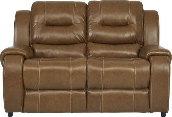 High Plains Saddle Leather Loveseat