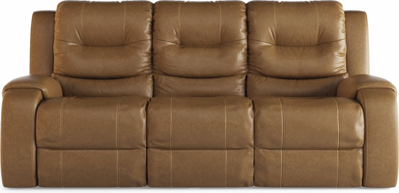 High Plains Saddle Leather Reclining Sofa