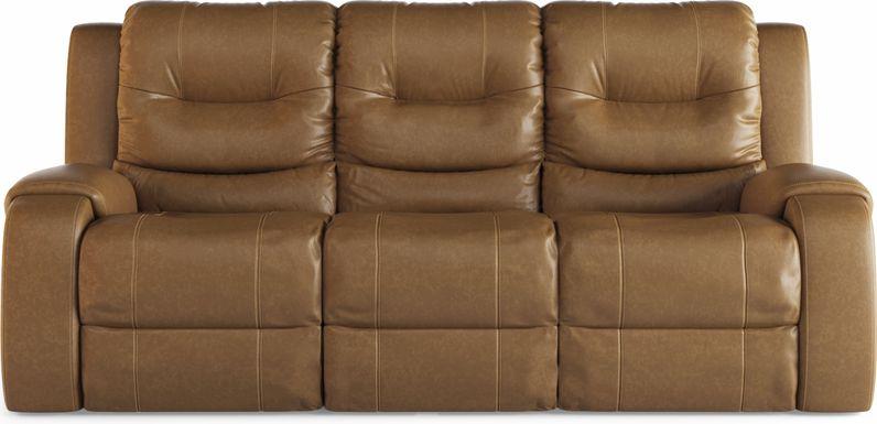 High Plains Saddle Leather Reclining Sofa