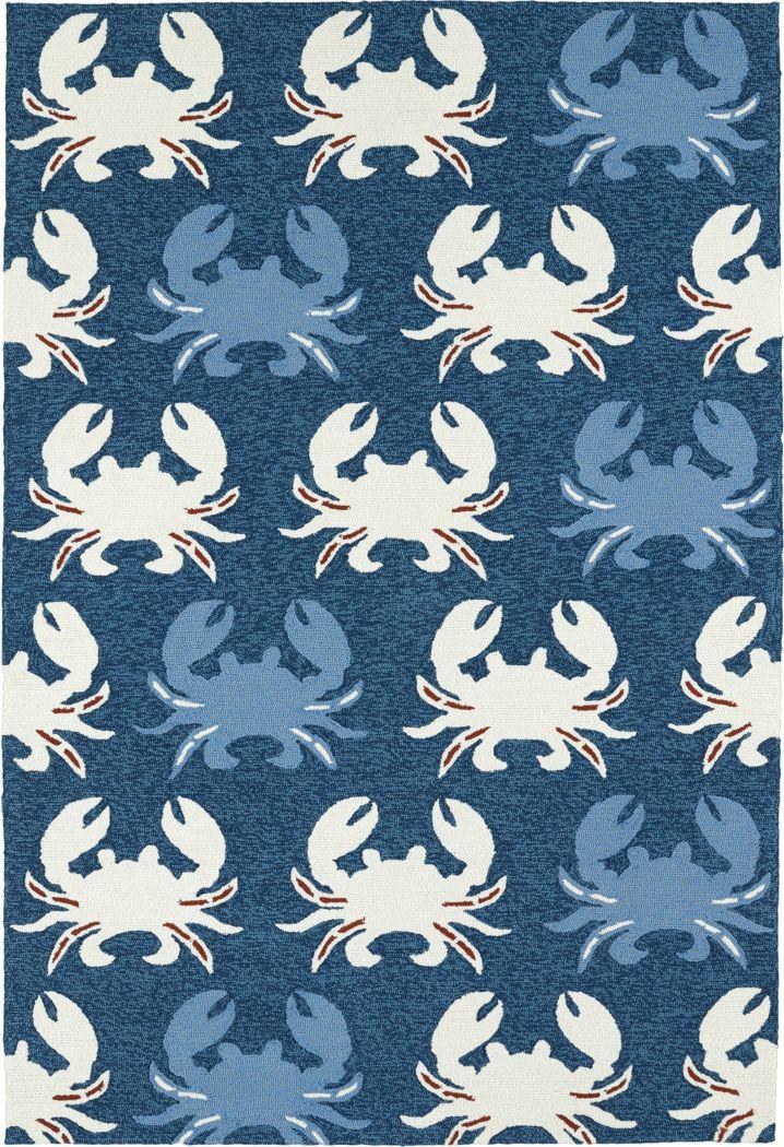 Highland Beach Blue 5' x 7'6 Indoor/Outdoor Rug