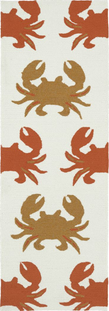 Highland Beach Orange 2' x 6' Indoor/Outdoor Rug