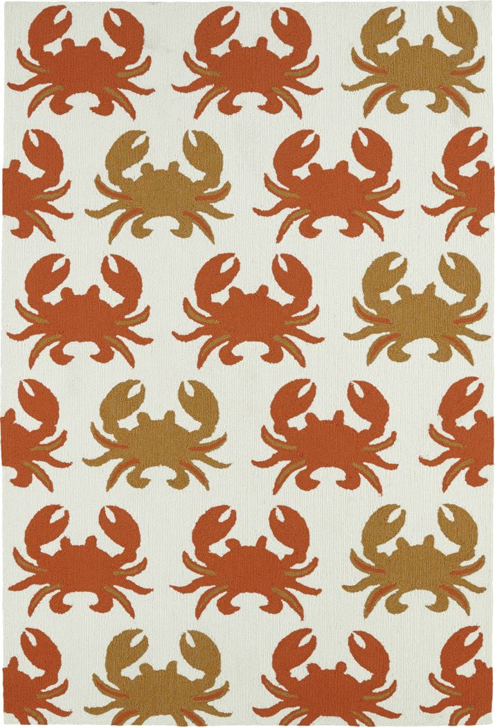 Highland Beach Orange 5' x 7'6 Indoor/Outdoor Rug
