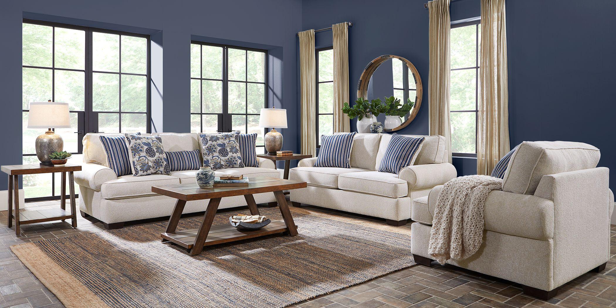 Highland Lakes Beige 2 Pc Living Room