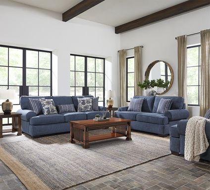 Highland Lakes Blue 7 Pc Living Room