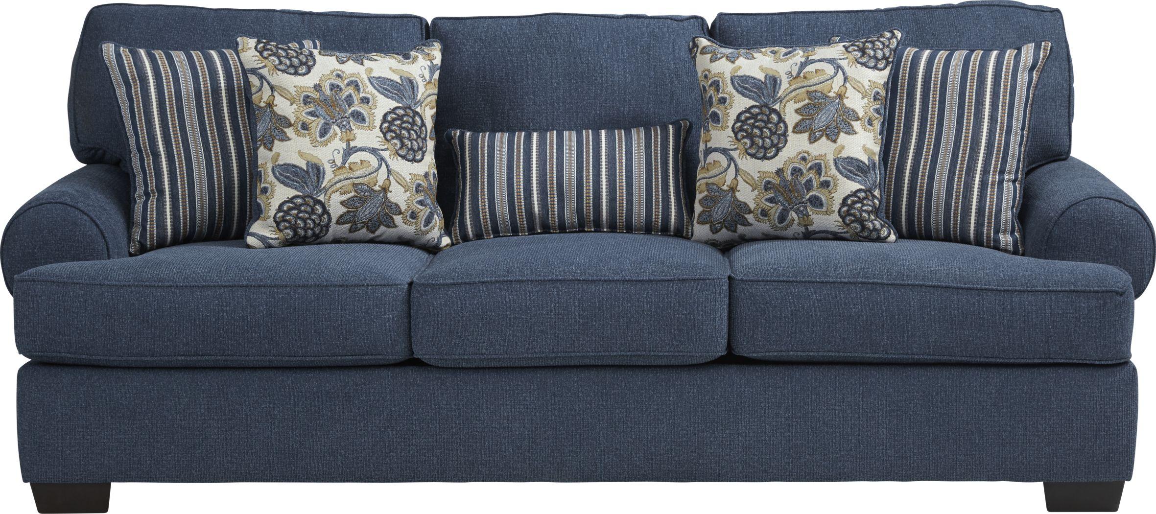 Highland Lakes Blue Sofa
