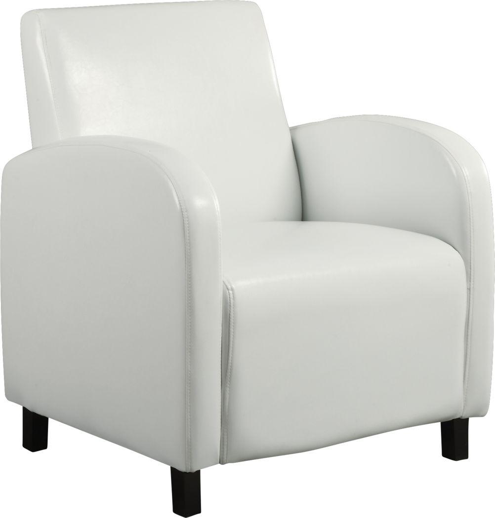 Hilandale White Accent Chair