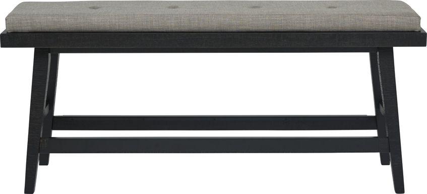 Hill Creek Black Counter Height Bench