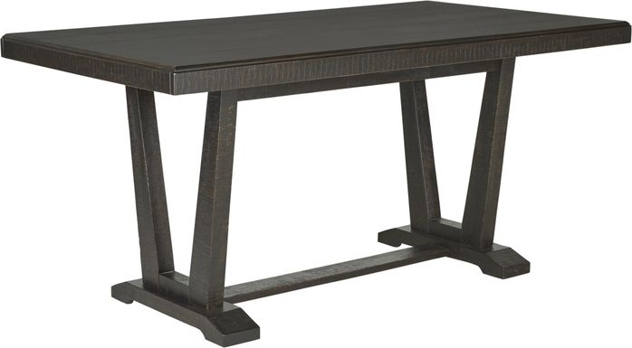 Hill Creek Black Rectangle Counter Height Dining Table