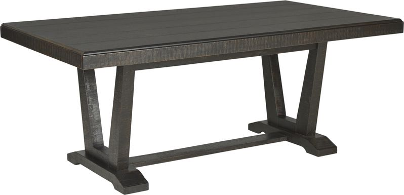 Hill Creek Black Rectangle Dining Table