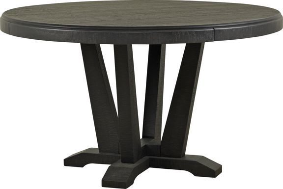 Hill Creek Black Round Dining Table