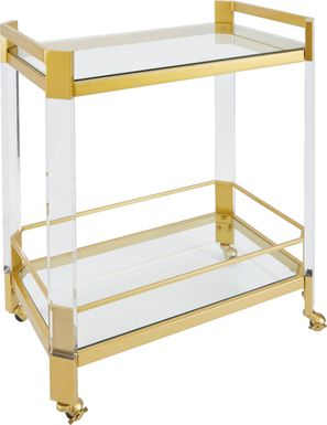Hillwood Gold Bar Cart