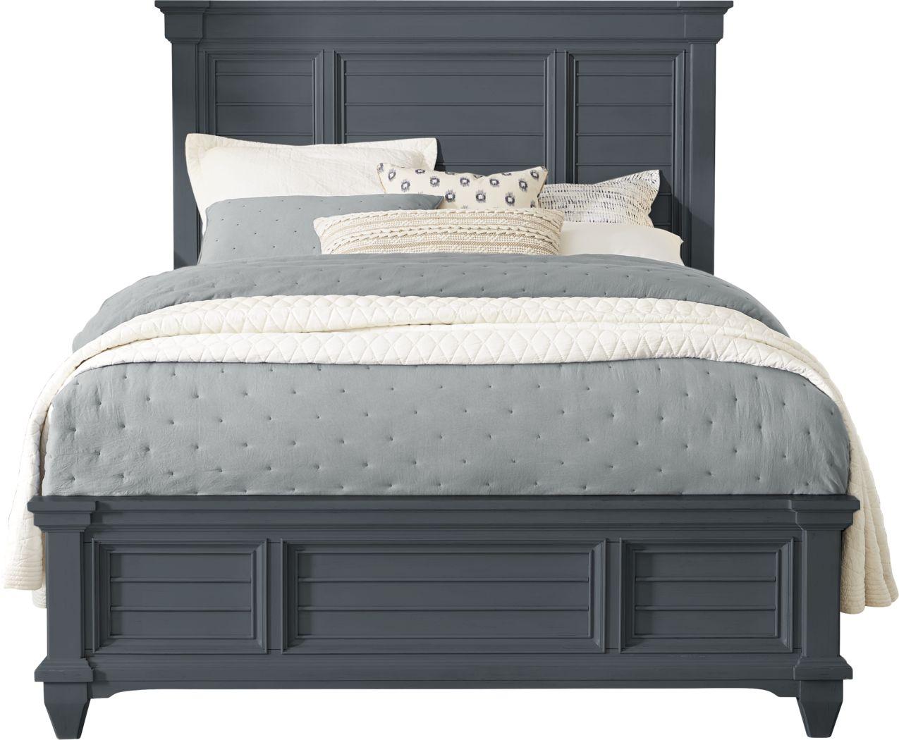 Hilton Head Graphite 3 Pc King Panel Bed
