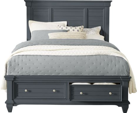 Hilton Head Graphite 3 Pc Queen Panel Bed with Storage