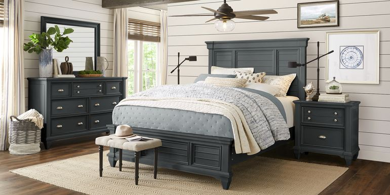 Hilton Head Graphite 5 Pc King Panel Bedroom