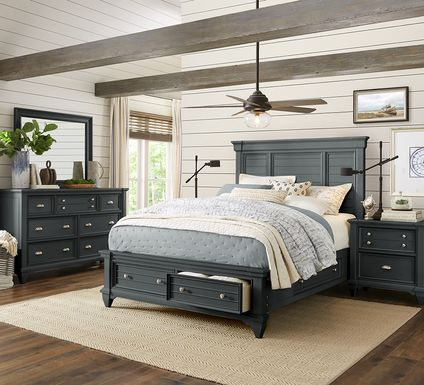 Hilton Head Graphite 5 Pc King Storage Bedroom