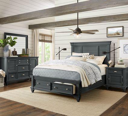 Hilton Head Graphite 5 Pc Queen Storage Bedroom