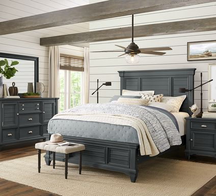 Hilton Head Graphite 7 Pc Queen Panel Bedroom