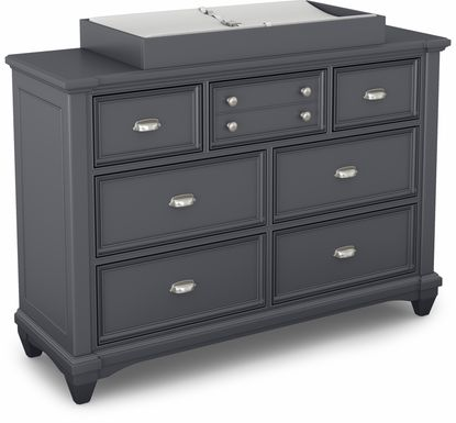 Hilton Head Graphite Dresser with Changing Topper and Pad