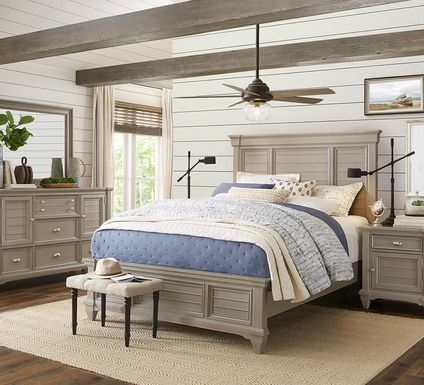 Hilton Head Gray 5 Pc King Panel Bedroom