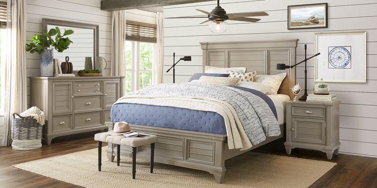 Hilton Head Gray 5 Pc King Panel Bedroom
