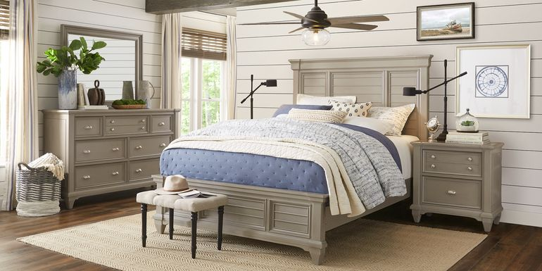Hilton Head Gray 5 Pc Queen Panel Bedroom
