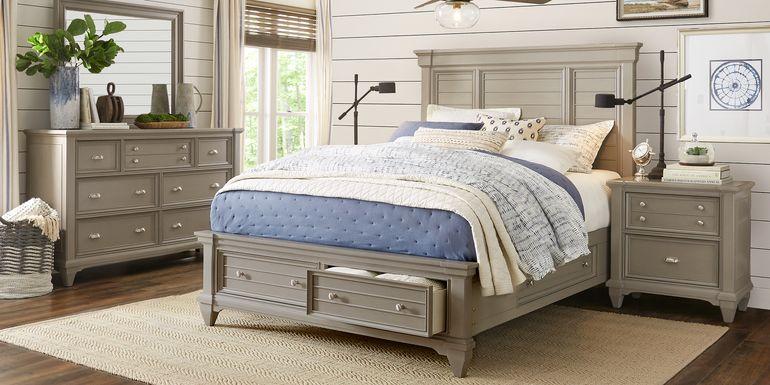 Hilton Head Gray 7 Pc King Storage Bedroom