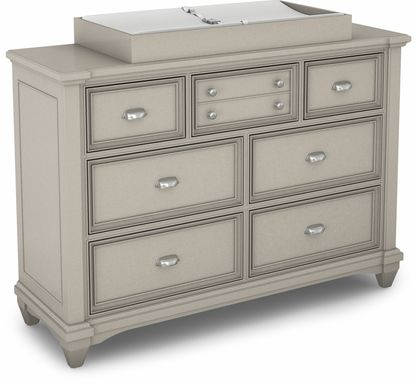 Hilton Head Gray Dresser with Changing Topper and Pad