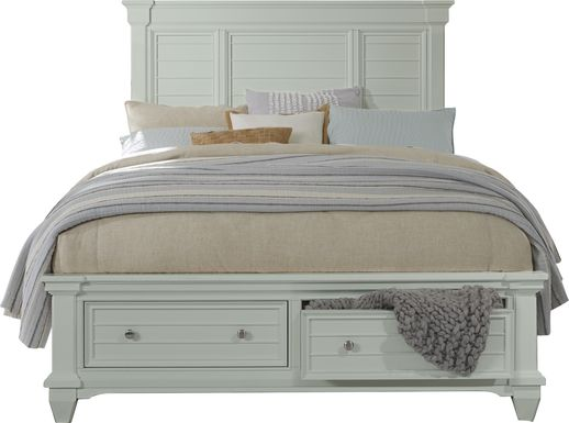 Hilton Head Mint 3 Pc Queen Panel Bed with Storage