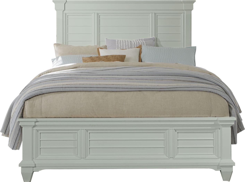 Hilton Head Mint 3 Pc Queen Panel Bed