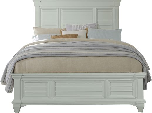 Hilton Head Mint 3 Pc Queen Panel Bed