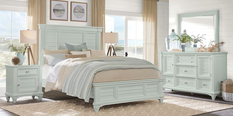 Hilton Head Mint 5 Pc King Panel Bedroom