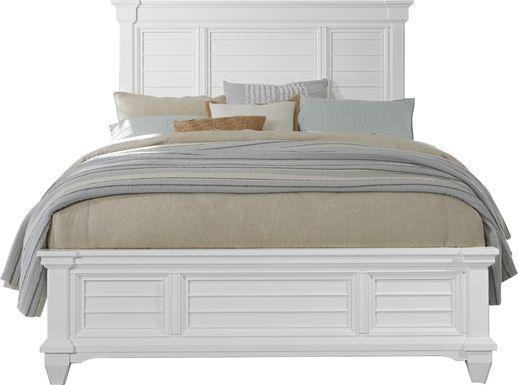 Hilton Head White 3 Pc King Panel Bed