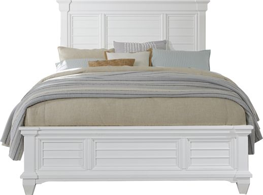 Hilton Head White 3 Pc Queen Panel Bed