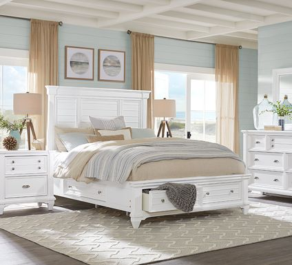 Hilton Head White 7 Pc King Storage Bedroom
