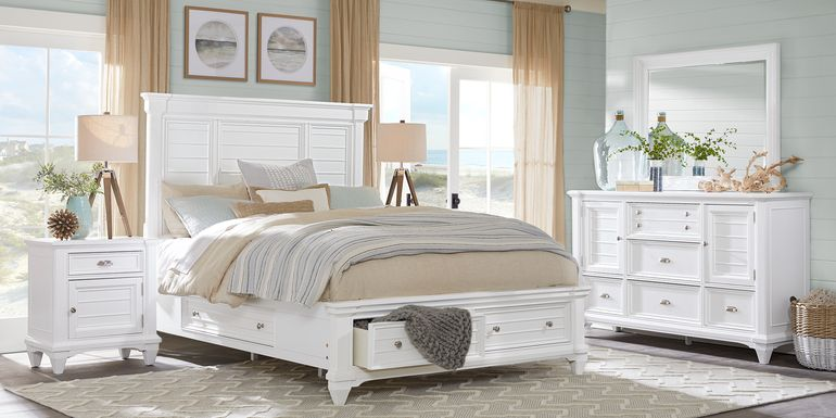 Hilton Head White 7 Pc King Storage Bedroom